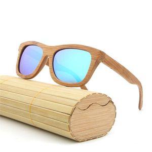 Mode Männer Frauen Sonnenbrille mit Bambus-Vintage-Sonnenbrillen mit Holz Objektiv Holzrahmen Handgefertigte Stent Sunglass