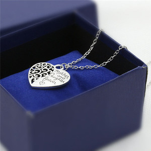 Necklace Mother And Daughter Necklace Mother and Daughter Forever Best Mom Gift Love Heart Pendant Necklace Chain New Alloy Pendant Necklace