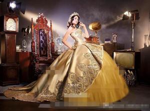 .REAL Or Embrodiery Appliques Robes Quinceanera Cou Cou Chérie 2 en 1 Détachables Volants Jupe Douce 16 Robes De Fête D'anniversaire