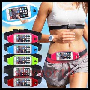 Sport Running Cinturino per iphone 6 6S plus Cintura regolabile impermeabile sacchetto sacchetto banda palestra bracciale samsung s6 S7 note5 pacchetto appeso