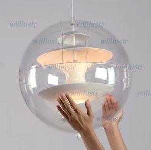 Globe Opal Glass Pendant Light Dining room Lamp Ceiling Light Pendant LAMP Dia 40CM Chandelier Louis Poulsen