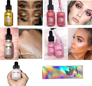 2017 Hot Unicorn Highlighter Unicorn Oil Illuminating Glow Elixir 5 colores 14ml Envío gratis