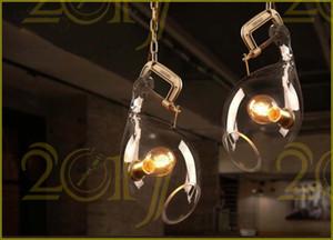 2017 fumat واضح زجاج قلادة مصباح غرفة الطعام المطبخ الثريا الإضاءة بار خمر زجاج مصابيح