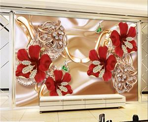 사용자 정의 사진 바탕 화면에서 Parede 드 (8D) 스테레오 표면 Mural.3d 풍부한 보석 보석 꽃 TV 배경 벽 PAPEL을도 5d