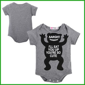 2016 Unisex Children clothing set Baby girl baby cotton short sleeve toddler jumpsuit infant bodysuit letters cartoon animal print outfits