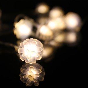 LED en plastique cône de pin Guirlandes batterie 5V fonctionne maison blanc chaud, anniversaire, mariage, Décoration de Noël