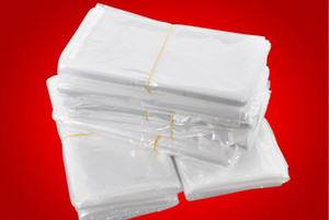 DHL SF_EXPRESS Shrink Wrap Bags bianco POF Film Wrap Cosmetici Confezione Borsa Open Top Plastic Heat Seal Packing Pouch Shrink Storage Bag