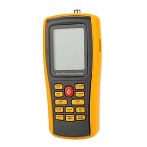 Freeshiping Yüksek Hassasiyetli Tel Dijital Anemometre takometre Rüzgar hızı kare / Hava Akış / Sıcaklık Ölçer Cihazı Ölçme teşhis araçları