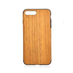 2 in 1 Ayrılabilir Gerçek Ahşap Ahşap Desen TPU Telefon Case Arka Kapak iphone 7 7 artı