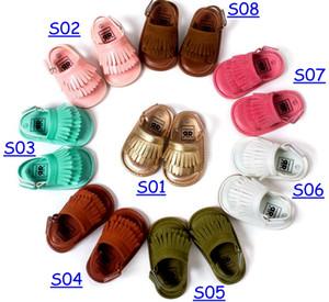 Neue hohe qualität 2016 Sommer baby mokassins sandalen weiche sohlen und elastische baby RUBBLE schuhe prewalker Säuglingsbabys Schuhe 44 farben