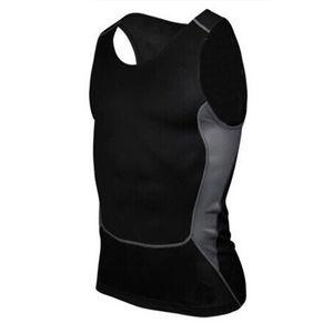 Wholesale- Men Compression Tight T-Shirt Base Layer Fitness Workout Vest Tank Tops S-XXL