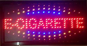 Direktverkauf führte E-Zigarette Shop Neonzeichen benutzerdefinierte Grafiken semi-Outdoor blinkende 10X19 Zoll E-Zigarette Shop Zeichen von LED
