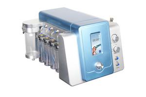 Tela de toque 2 em 1 diamante Microdermoabrasão Hydra Dermaabrasão Hydro Rosto de Água Oxigênio Jato Peel Facial Machine com quatro garrafa de limpeza