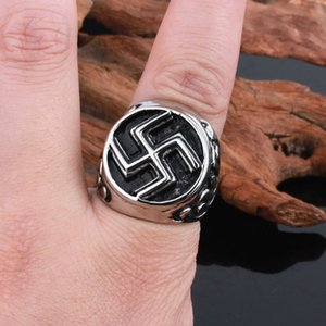 Size #8-12 Punk Om Mani Padme Hung Style Rings Jewelry Stainless Steel Gothic Ring For Men