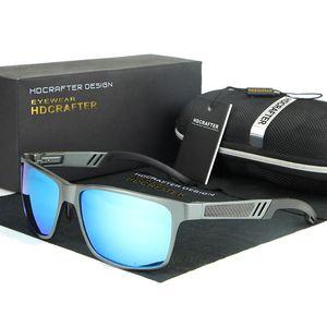 HDCRAFTER Occhiali da guida Occhiali da sole in alluminio e magnesio polarizzati per gli uomini Occhiali da sole per occhiali sportivi da sole con custodia