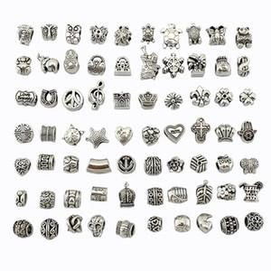 Se adapta a Pandora Bracelets Mix aleación Big Hole Beads Crystal Loose Bead Charms para al por mayor Diy European Necklace Jewelry Accessories