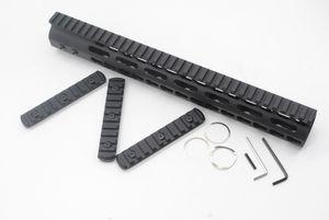 13.5 pulgadas Free Float Key Mod Handguard Rail Black con acero / aluminio Barrel Nut + Picatinny Rail Section