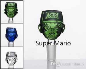 Glass Super Mario Herb Holder 14 18mm male Smoking Dry Herb Holder Glass Bong Glass Convenient&Popular To Use titan_v