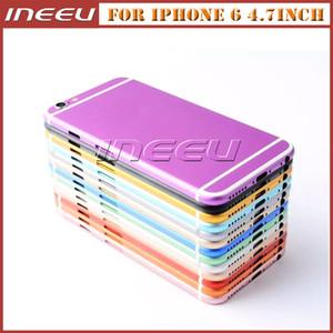iPhone 6을위한 금속 뒤 주거 덮개 Apple 6를위한 알루미늄 합금 다채로운 중간 구조 건전지 문 교체 덮개 상자