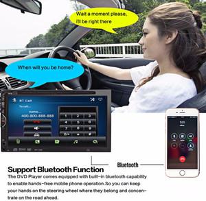 1269 2 Din 7 인치 블루투스 BT V3.0 자동 라디오 더블 Din 32GB 차량용 DVD 플레이어 인 - 대쉬 스테레오 비디오 USB SD 마이크 핸즈프리 통화