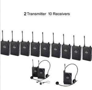 UHF Guía de viaje inalámbrico Sistema de traducción 2 Transmisor 10 Receptores Sistema de guía de viaje inalámbrico Teach Train Visit Tourism 938 por aibierte
