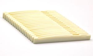 50pcs Universel Guitare Acoustique Bridge Lower Nut Saddles Plastic Ivory White