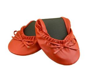 150 pares de zapatos enrollados Slip on Women Dance Shoes en cápsula Soft Sole Cheap Ballerinas in For Lady