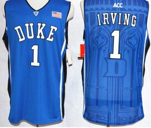 New stitched Embroidery High Quality #1 Kyrie Irving Uniforms Duke sports Cheap Running Pro Jerseys Blue Devils team On Sale