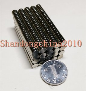 Wholesale - In Stock 50pcs Strong Round NdFeB Magnets Dia 5x1.5mm N35 Rare Earth Neodymium Permanent Craft DIY Magnet Free shipping