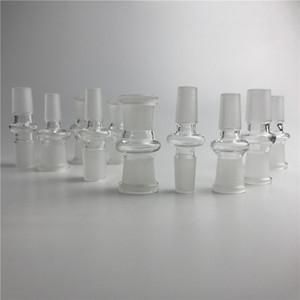 adattatore per vetro con 10 stili 14mm 18mm maschio femmina adattatore per bong in vetro trasparente per tubo acqua in vetro