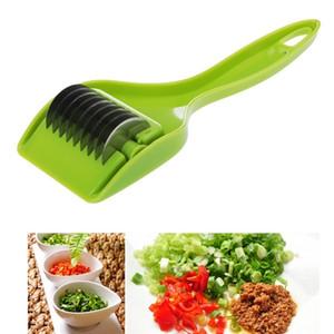 Accesorios de cocina inoxidables Gadgets Hoja de cebolla verde Chopper rebanador Ajo Cilantro Cortador Chopper Vegatable Herramientas de cocina