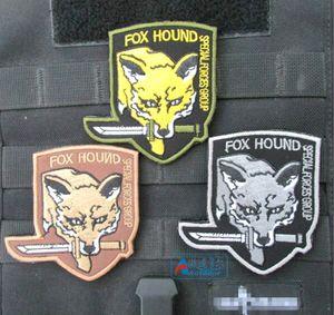 3,15 pouces 3D patches brodés avec du ruban magique Metal Gear Solid (MGS) Serpent Foxhound Forces spéciales spersonality militaire GPS-017