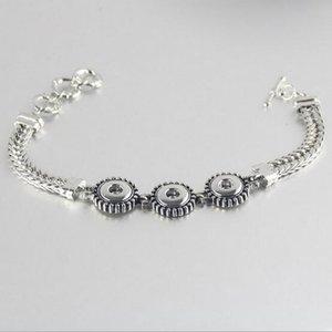10 pezzi d'argento antico Noosa 3 Snap piccolo braccialetto di fascino, scatta 12mm, gioielli a scatto spedizione gratuita
