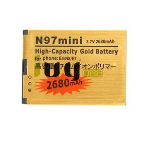BL-4D BL 4D BL4D 2680mAh بطارية بديلة للذهب لنوكيا N97mini N8 E5 E7 702T T7-00 N5 808 702T T7 بطاريات Batteria Batterie