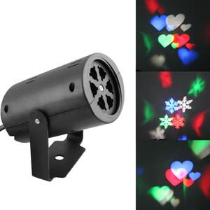 Led duvar dekorasyon lazer ışığı LED desen ışıkları, rgb renk 2 desen kart değişimi lamba Projektör Duşlar tatil için led lazer ışığı
