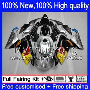 حقن هيكل السيارة ل Aprilia RS4 RSV125 06 07 08 09 10 11 RS-125 0Y14 RS 125 R Silvery blk RS125 2006 2007 2008 2009 2010 Fairing