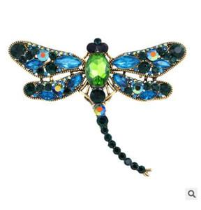 Europa e os Estados Unidos vendendo high-grade broche de diamantes pingente de dois pingente Dragonfly animal