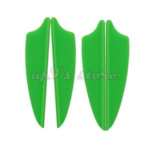"100pcs 1.75"" Shield Plastic Arrow TPU Fletching Vane Archery Bow For Hunting"