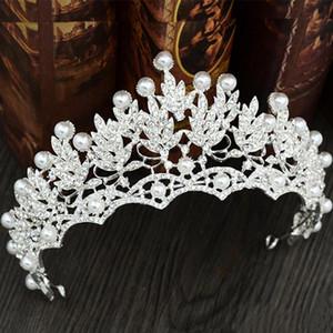 Perles Diamant De Mariage Couronnes Coiffure De Mariée Bandeaux Femmes Cristal Bijoux Diadèmes En Gros Parti Quinceanera Anniversaire Cheveux Accessoires