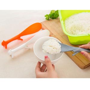 Venda por atacado - Lovely Kitchen Supplie Squirrel Shaped Panela Antiaderente Rice Paddle Refeição Colher Acessórios de Cozinha EJ876844