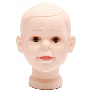 Großhandelsmannequinbaby-Puppengeschäftsfenster-Puppenkopf-Kappengläser