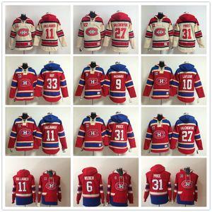 Sudaderas con capucha Montreal Canadiens 6 Shea Weber 31 Carey Precio PATRICK ROY 11 Brendan Gallagher 67 Max Pacioretty Alex Galchenyuk Sudadera con capucha Sudaderas