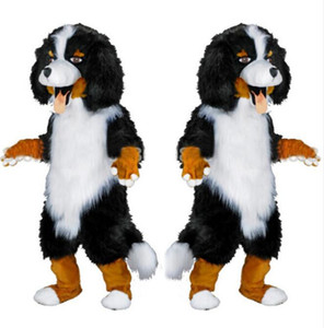 2017 design veloce personalizzato bianco nero sheep dog costume della mascotte personaggio dei cartoni animati vestito operato per il rifornimento del partito formato adulto