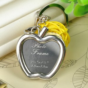 Wholesale-1 PCS Mini Creative Metal Alloy Insert Photo Picture Frame Keyring Keychain Gift