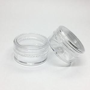 5gram косметическая пластиковая банка прозрачная основа крем пустой горшок образец банку 5 мл мини пластиковая бутылка ногтей блеск порошок контейнер случае
