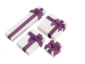 Volle Sätze Schmuck / Schmuck Halskette Ohrringe Ringe Armbänder Armreifen Geschenke Verpackung Paket Verpackung Display Zeige Box Fall mit Bowknot
