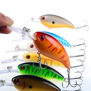 New Minnow saignement bionique leurre de pêche 10cm 15g 7colors vaciller baitfish manivelle laser appâts 30pcs / lot