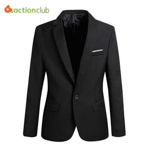 Großhandel-Neue Ankunft Männer Anzug Jacke Casaco Terno Masculino Blazer Strickjacke Jaqueta Hochzeitsanzug Jacke Männer Größe S-6XL Super Plus Size