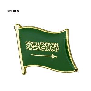 Бесплатная доставка Саудовская Аравия Металлический Флаг Значок Флаг Pin KS-0157