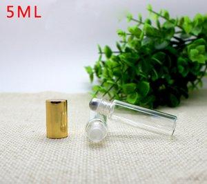 Фабрика Цены Удалить 5мла роликовые бутылки для эфирных масел рулонной Refillable Perfume Bottle Дезодорант Контейнеры 5мл с золотомом Cap